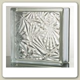 ICE FLOWER Glass Block from Blokup.com.au - The Glass Block Shop