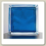 In-Colour Blue Glass Block from Blokup.com.au - The Glass Block Shop