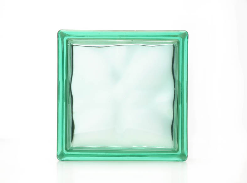 Wolke Green Coloured Glass Blocks