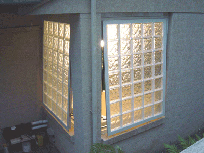 Opening Glass Block window