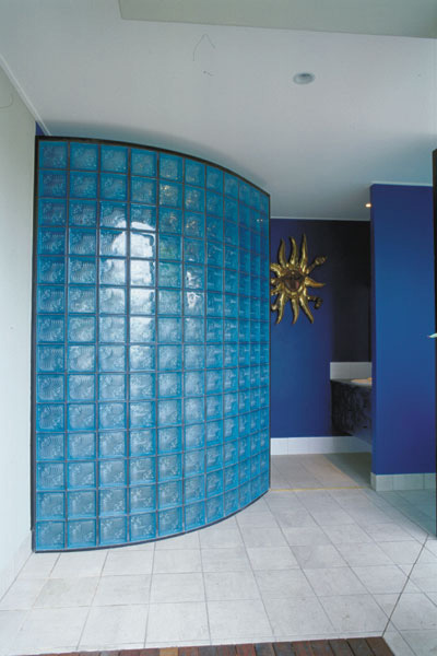 Curved Internal Glass Block Feature