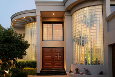 Curved Front Door Glass Side Panels