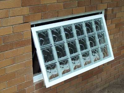 Opening Glass Block basement window