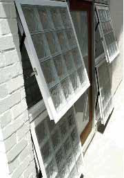Sidelight opening windows for Glass block alternatives